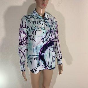 Mary Katrantzou Current Elliot Button Shirt S/M
